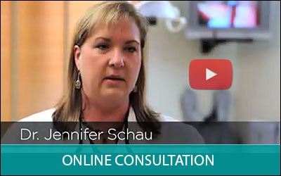 Image of a video about online consultation, displaying the button to be clicked for the video to play.